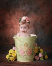 Angel Bucket Baby Digital Backdrop & Layered Background for Babies